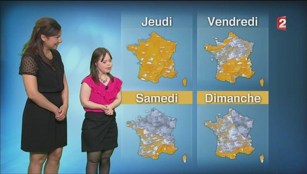 Mélanie Segard da el tiempo en France 2
