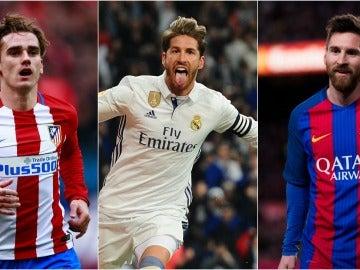 Griezmann, Ramos y Leo Messi