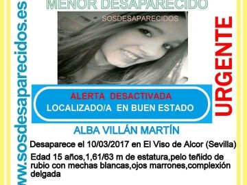Localizan a la menor desaparecida el pasado sábado en Sevilla