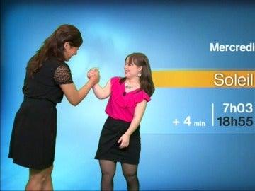 Frame 40.906666 de: Una mujer con síndrome de Down ha presentado el pronóstico del tiempo en televisión