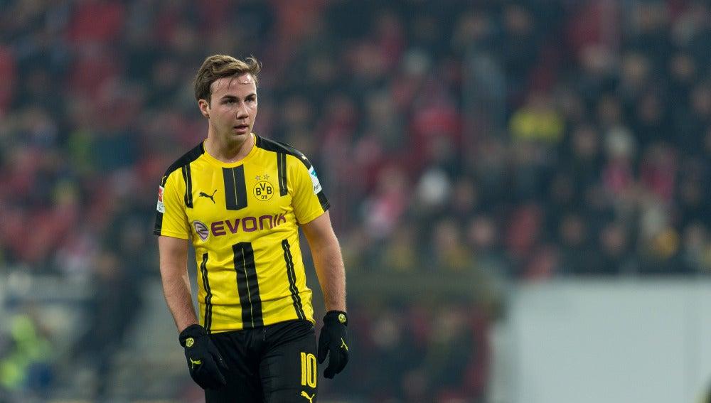 Mario Götze durante un partido del BVB