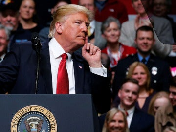 Donald Trump en un acto en Nashville