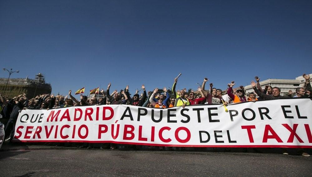 Huelga de taxistas en Madrid