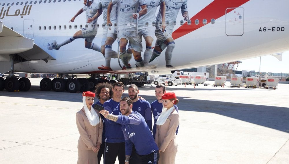 antena 3 tv el real madrid presenta el a380 de emirates