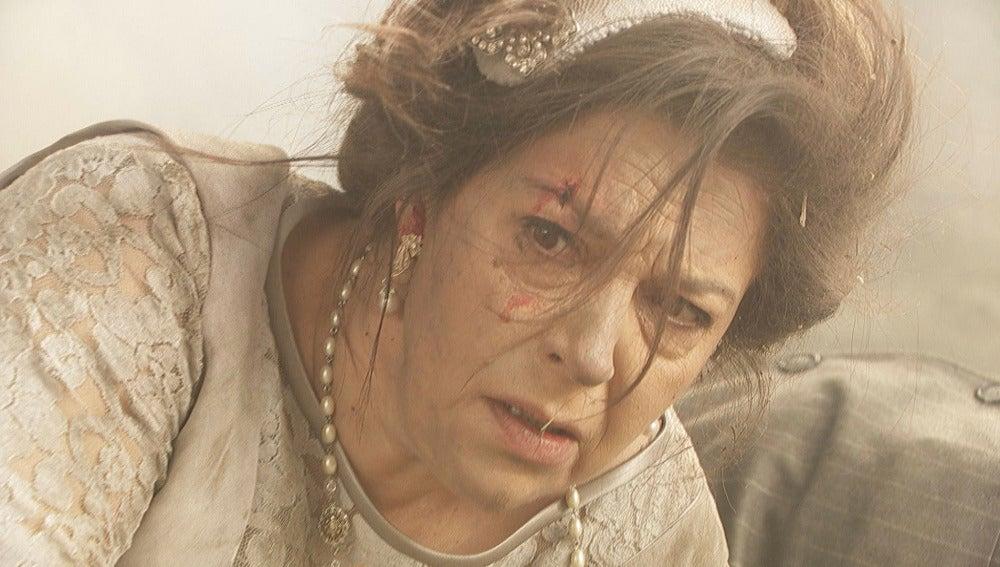 Una bomba estalla en el enlace de Francisca y Raimundo
