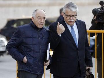 Miguel Ángel Fernández Ordóñez a su llegada a la Audiencia Nacional