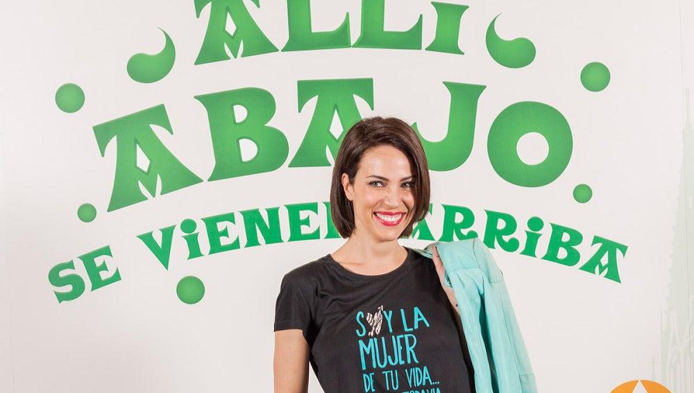 Nerea Garmendia en la presentación de la tercera temporada de 'Allí Abajo'