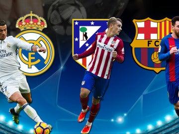 Real Madrid, Atlético y Barcelona, en el sorteo de cuartos de Champions