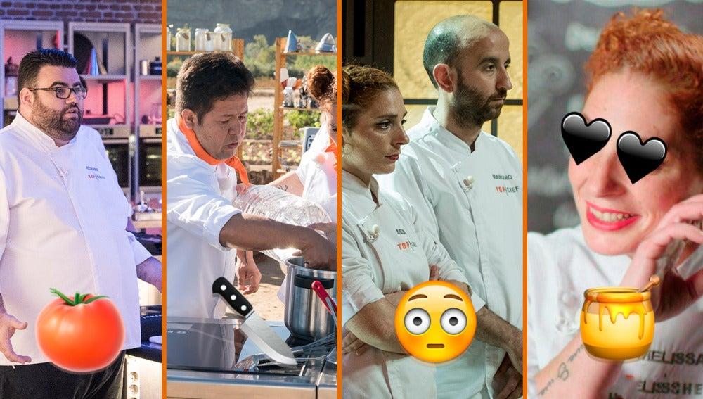 Pollos sin cabeza, amores incondicionales y guerras campestres, los momentazos de 'Top Chef'
