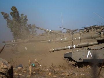 Tanques israelíes patrullan los Altos del Golán