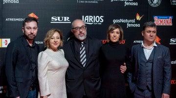 El equipo de 'El Bar' en la presentación del Festival de Málaga