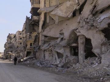 Edificio en ruinas en Alepo