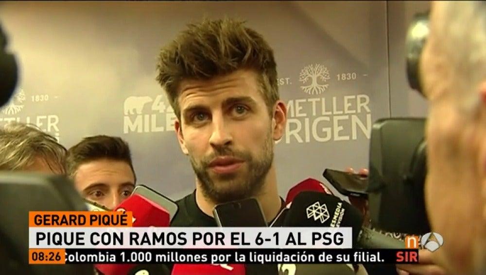 """Frame 18.904347 de: Piqué: """"Ramos tiene razón, el 6-1 fue histórico, casi como ganar una Champions"""""""