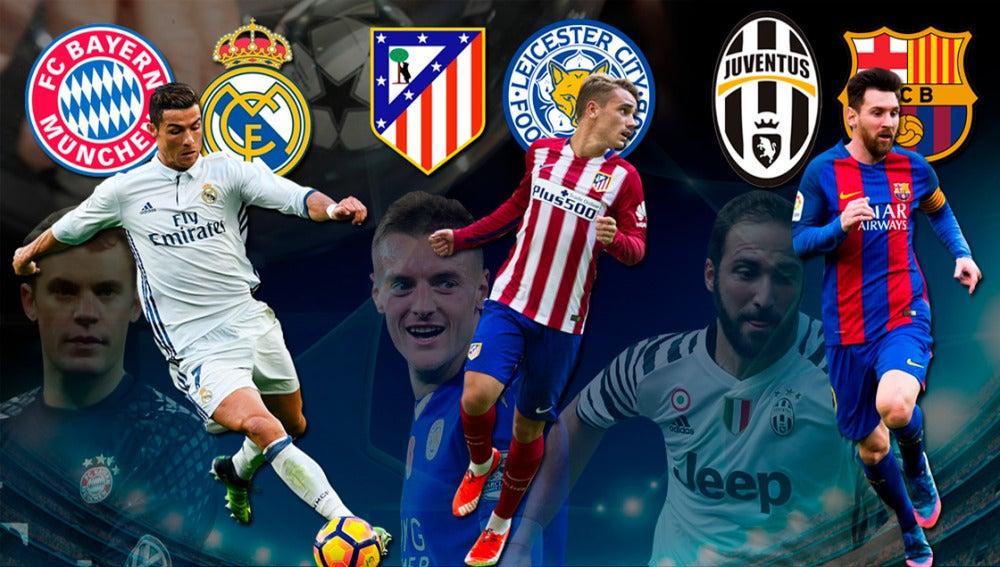 Madrid, Atlético y Barcelona, con sus rivales de cuartos de Champions
