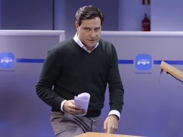El presidente del Comité Organizador del Congreso Regional del PP de Castilla y León, Raúl de la Hoz