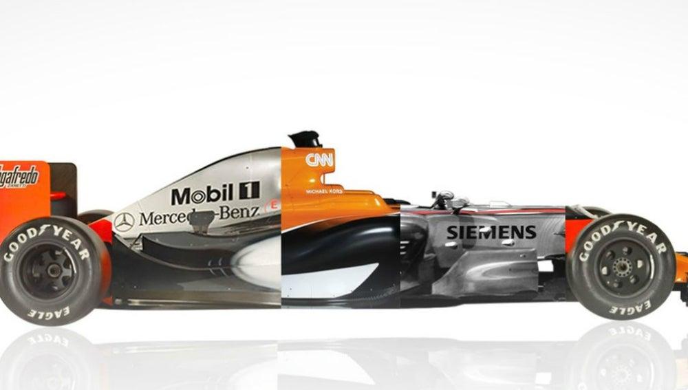 El McLaren, vestido con motor Mercedes