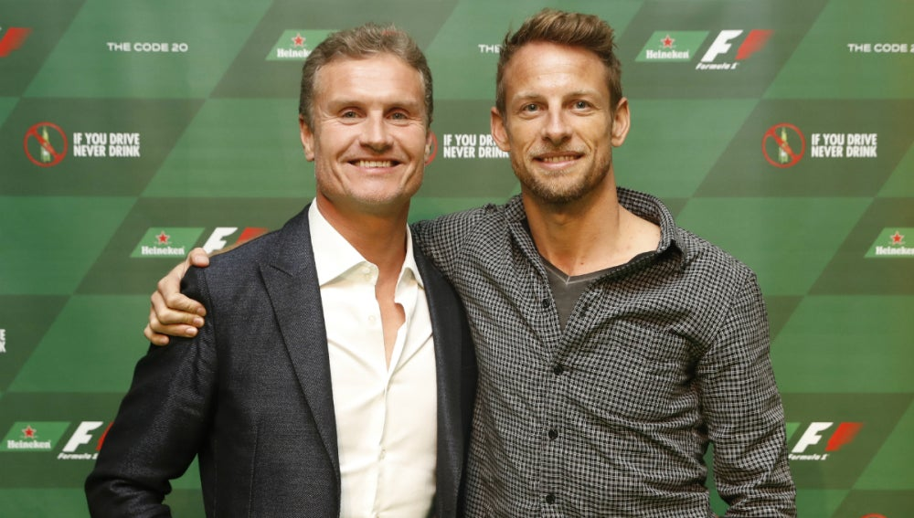 Coulthard, con Jenson Button