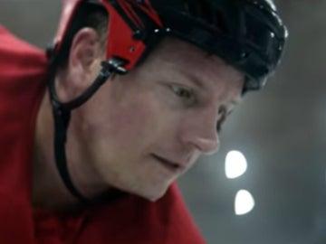 Raikkonen, jugador de hockey