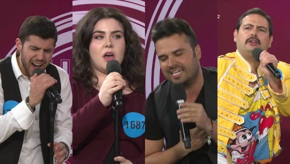 Concursantes de la tercera gala de 'Tu cara no me suena todavía'
