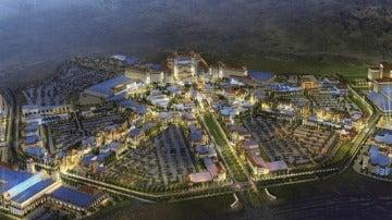 Recreación del complejo de ocio que The Cordish Companies quería construir en Torres de la Alameda