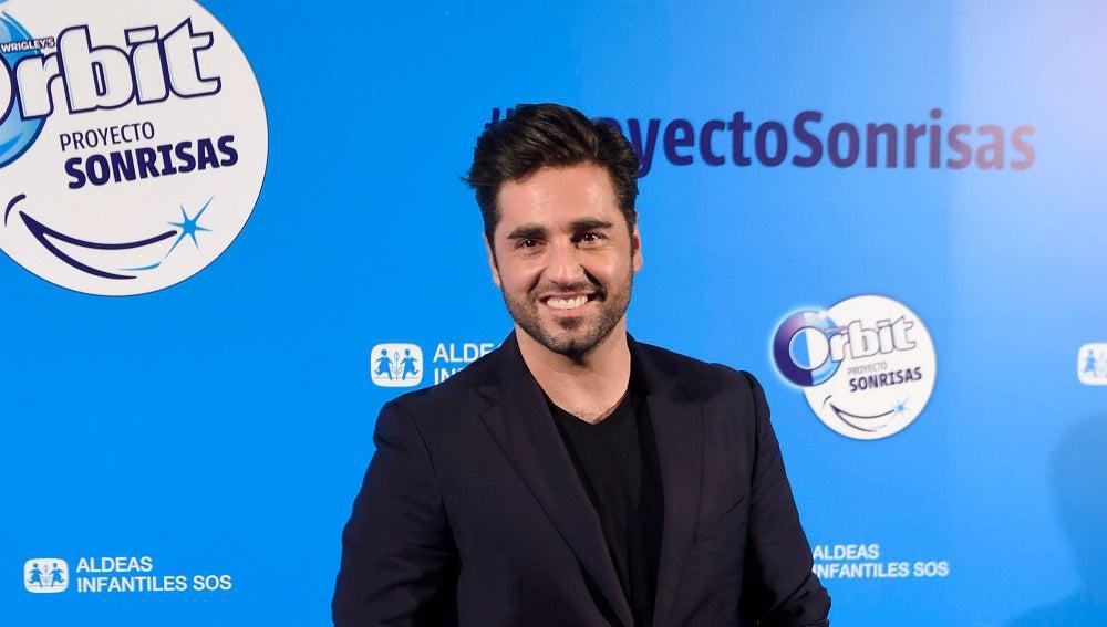 David Bustamante durante la presentación del 'Proyecto Sonrisas'