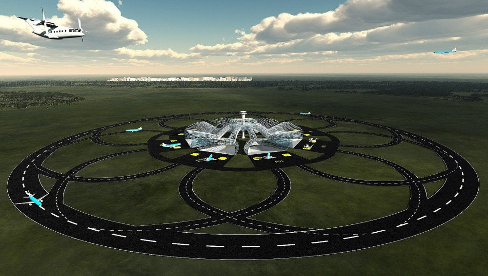 Pistas de aterrizaje circulares