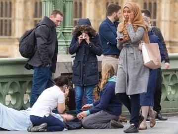 La mujer que fue testigo del atentado de Westminster