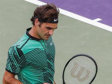 Roger Federer en un partido