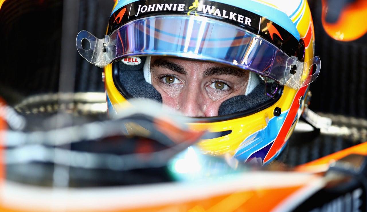 Fernando Alonso, en el cockpit