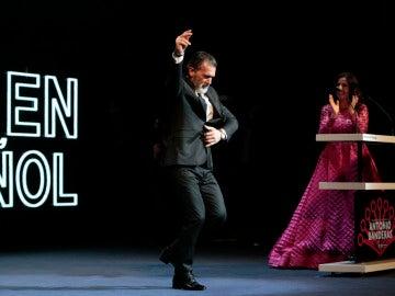 Antonio Banderas en la clausura del Festival de Málaga