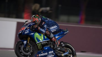 Maverick Viñales en Doha
