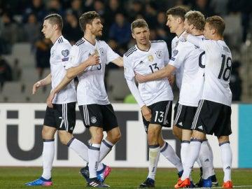 Alemania celebra un gol
