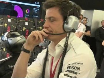 Toto Wolff, enfadado en el GP de Australia