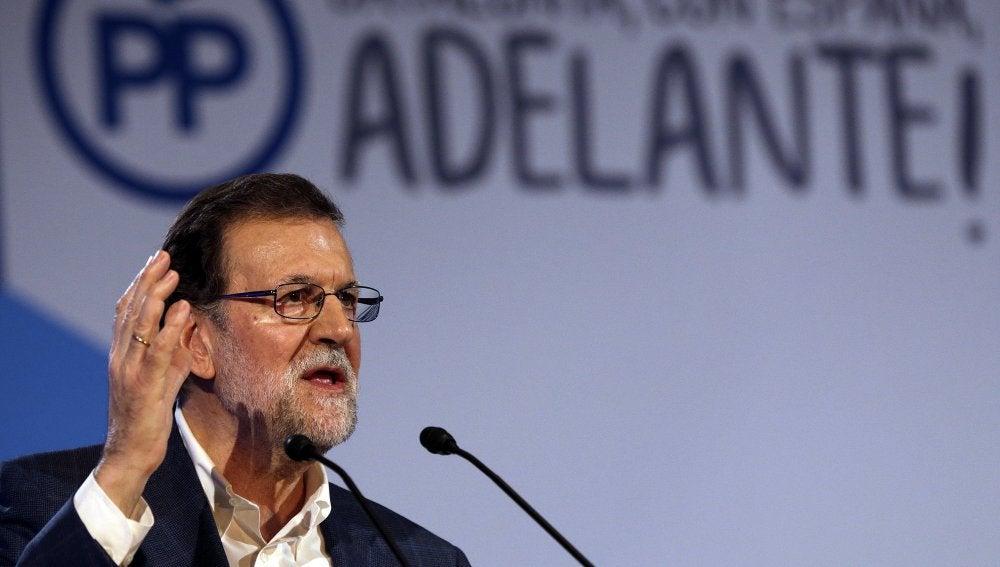 El presidente del PP y del Gobierno, Mariano Rajoy