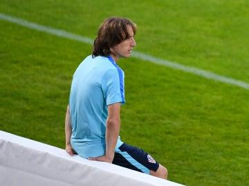 Modric, en un entrenamiento con Croacia