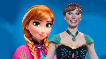 Mary Porcar imita a la princesa Anna de Frozen