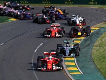 Salida del GP de Australia