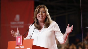 Susana Díaz en la presentación de su candidatura a la Secretaría General del PSOE