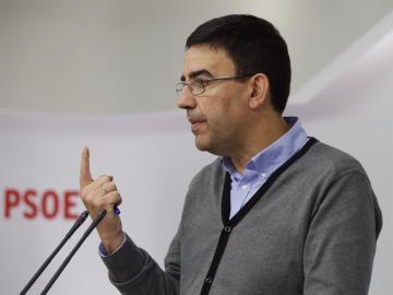 El portavoz de la gestora socialista, Mario Jiménez