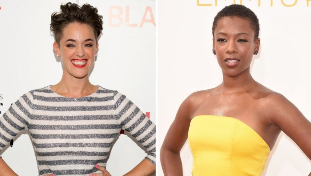 La actriz Samira Wiley y la guionista Lauren Morelli de 'Orange is the new black'