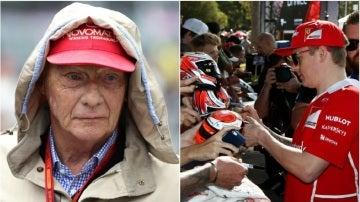 Niki Lauda carga contra Kimi Raikkonen