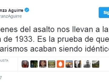 Aguirre compara la CUP con Alemania nazi