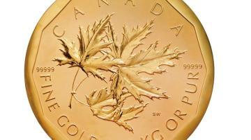 Mayor moneda de oro del mundo