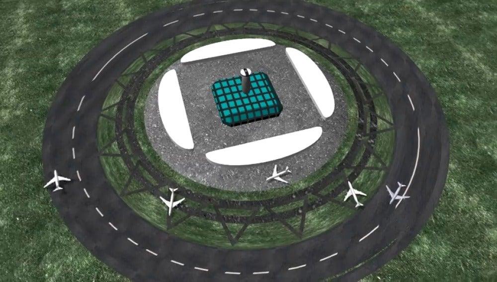 Frame 22.2196 de: ¿Llegarán a existir pistas de aterrizaje circulares?