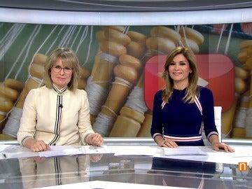 MAría Rey y Sandra Golpe en el informativo de Antena 3 Noticias 1