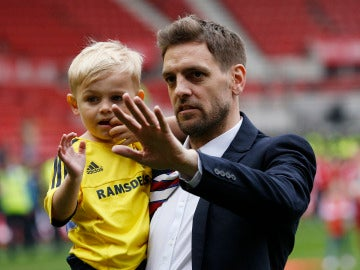 Jonathan Woodgate, antes de un partido del Middlesbrough