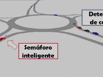 Frame 14.4 de: Soluciones con sensores y semáforos inteligentes para dosifficar el tráfico en las rotondas