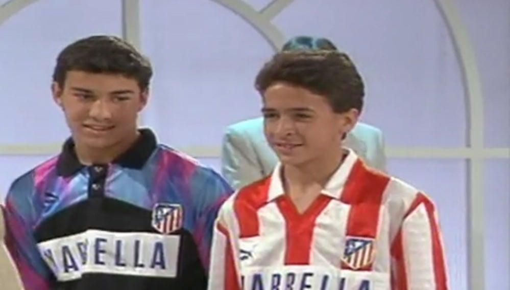 Raúl, del Atlético cuando era pequeño