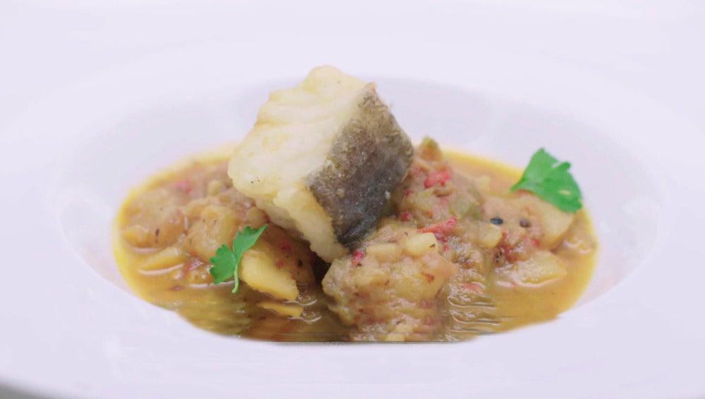 Patata, bacalao y alcachofas