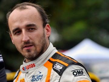 Robert Kubica, en un rally en Francia